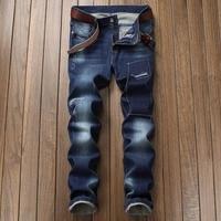 New Mens Jean Design Jeans Slim Stretch Straight Denim Pants Jeans Patch broken embroidery Mens Motorcycle Men Jeans 8521