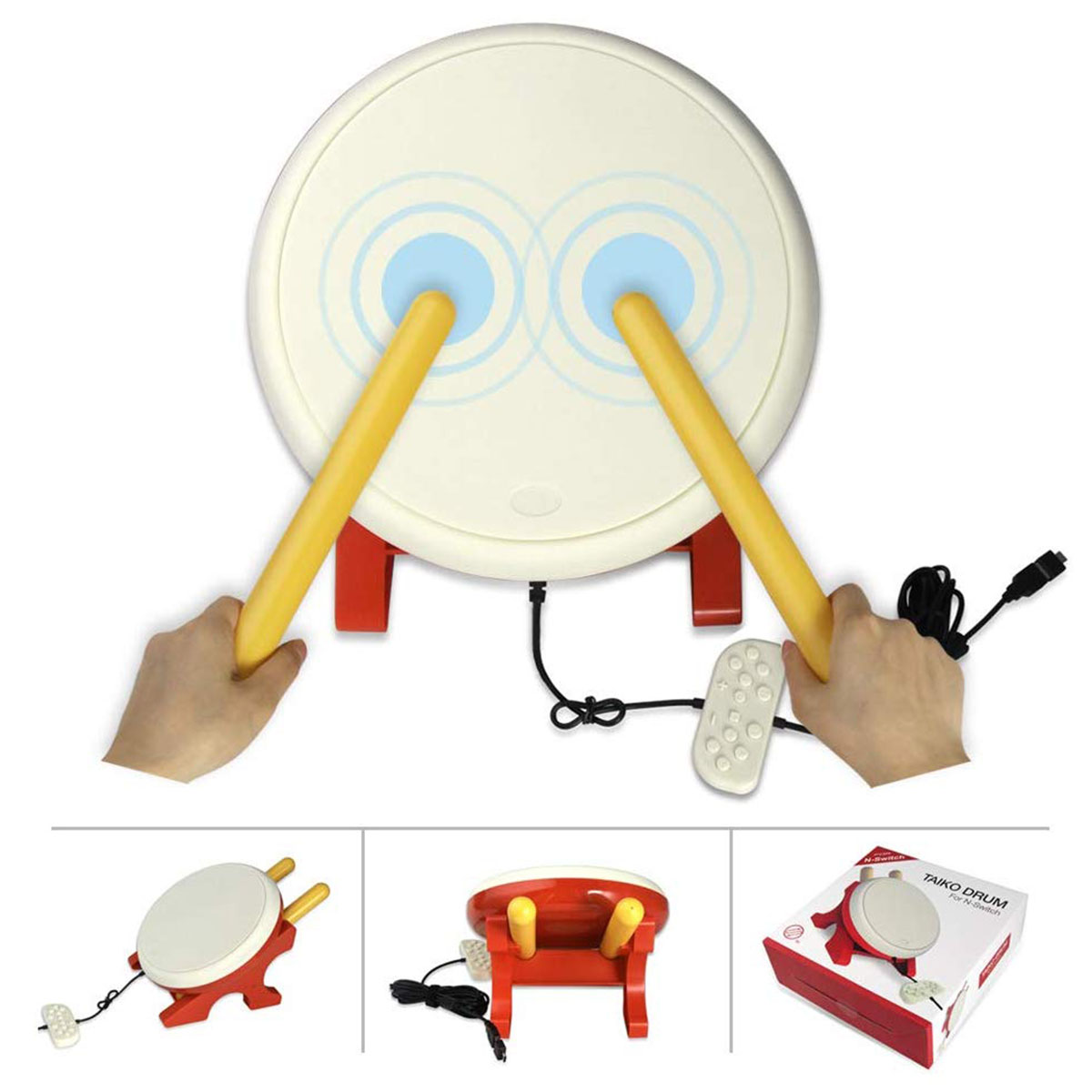 For Taiko Drum Compatible with N-Switch,Drum Controller Taiko Drum Sticks Video Games Accessories Compatible with Nintendo Swi 1 pair drum brushes jazz drum sticks jazz drum brush professional drumsticks with handle drum accessories