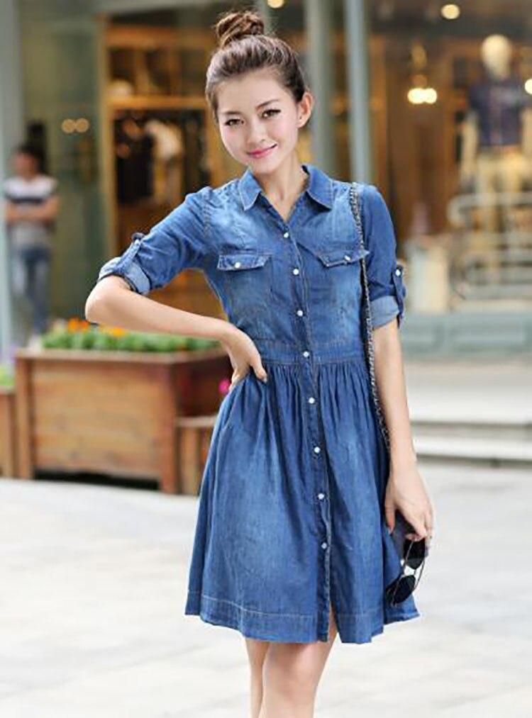 3  spring summer season girls clothes,informal pleated demin gown plus measurement HTB1pH6JB4SYBuNjSspjq6x73VXaJ