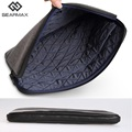 Gearmax Notebook Cover 13 15 Wool Felt Notebook Cover Sleeve Zipper 11 12 13 14 15 Men Black Gray Laptop Sleeve  Genuine Leather