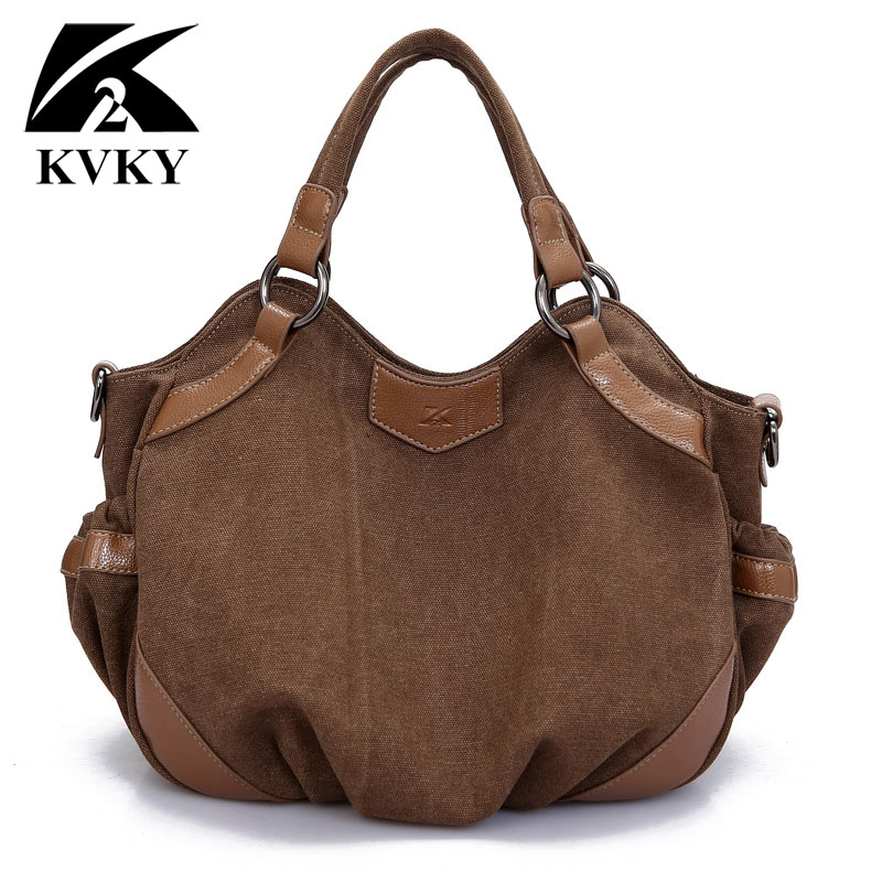 цены KVKY 2017 New Hot sale high qualtiy canvas women bags handbags shoulder bags ladies messenger bag casual tote crossbody sac main