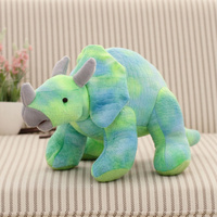 cartoon dinosaur large 50cm coloured blue Sterrholophus Marsh plush toy soft throw pillow birthday gift b0177