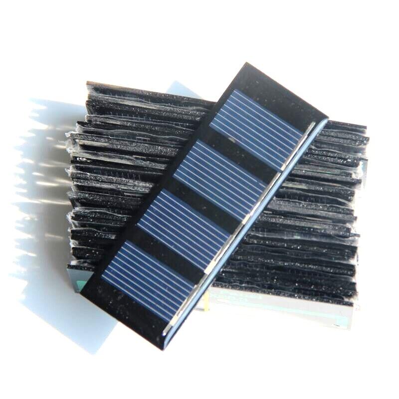 Hot Sale 10PCS/Lot Small Solar Panel 0.2W 2V 78.8*28.3MM Epoxy Solar Module Polycrystalline Silicon Solar Cell Free Shipping