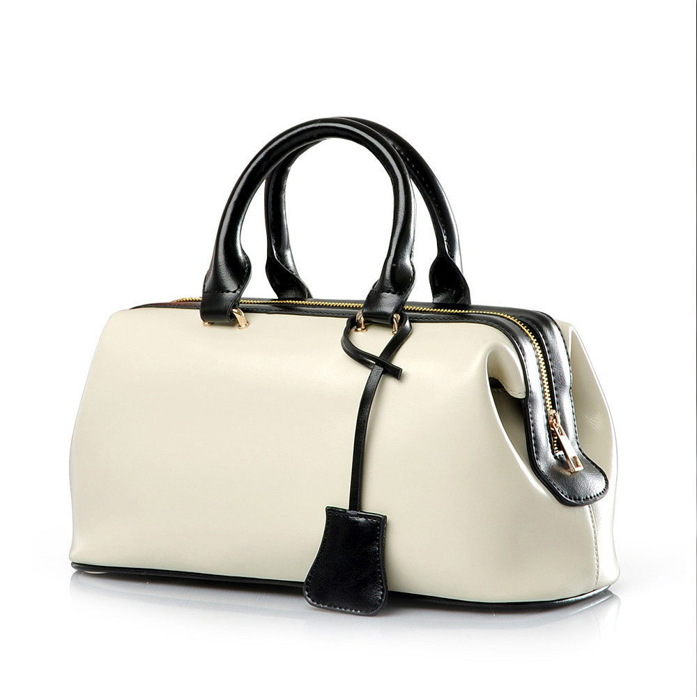 Vintage Fashion Classic Doctor bag Genuine font b leather b font bag Famous Brand designer women