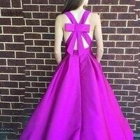 Dresses Prom Long Elegant Plus Size Vestidos Largos Elegantes Halter 2019 Purple A Line Formal Sexy Evening Wear for Women