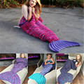 Sleeping Bags Winter Super Soft Warm Hand-Crocheted Mermaid Tail Blanket Sofa Blanket Children Cute Kids Blankets Hand-Crochet