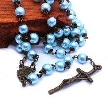 Rosary Necklace Jewelry Cross Catholic Christian Prayer Supplies