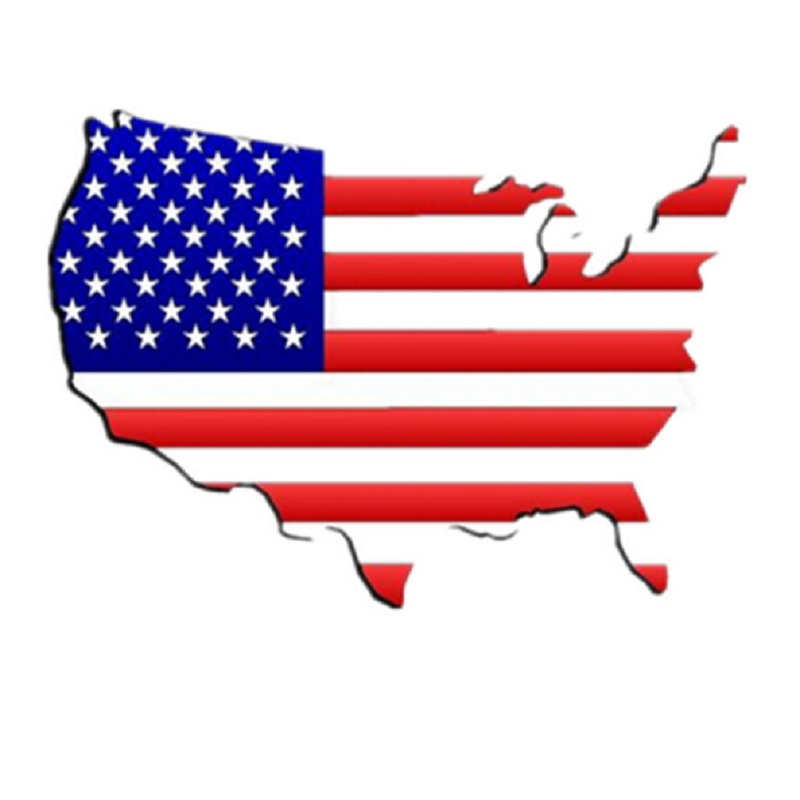20pcs United States map 18mm plastic snap charms jewelry for snap bracelets