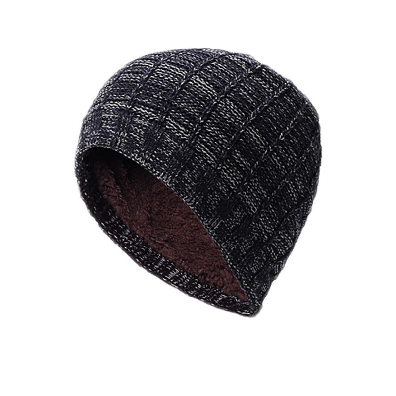 Comfortable Men Women Mixed Color Stripe Crochet Chic Cap Cashmere Knit Plicate Baggy Beanie Wool Hat Winter Warm hot sale unisex winter plicate baggy beanie knit crochet ski hat cap