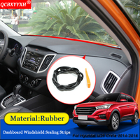 Car-styling Anti-Noise Soundproof Dustproof Car Dashboard Windshield Sealing Strips Accessories For Hyundai ix25 Creta 2014-2018
