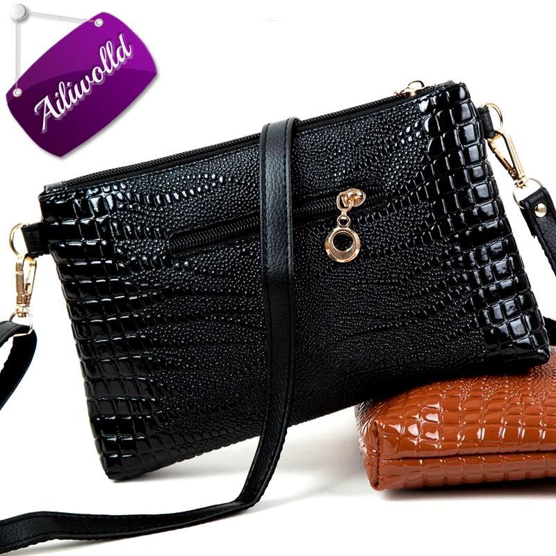 2017 New Women Bag Handbags Simple Leather Alligator Messenger Bags Females Shoulder Bag Ladies Cross body Bags Bolsas Feminina