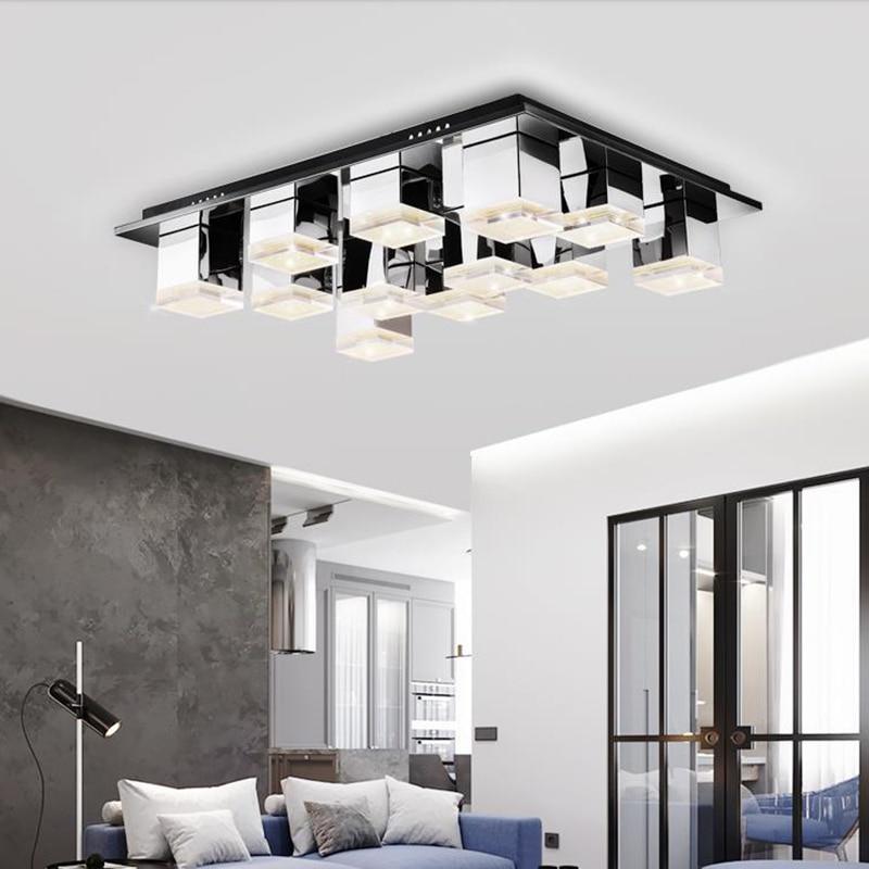 Пост современный светодиодный Acylic потолочные светильники Новый дизайн хрустальные подвески огни минималистский RGB Яркость затемнения све