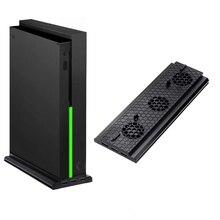 Подставка для Xbox One X охлаждающий вентилятор для Xbox One X консоль вертикальная подставка охлаждающая станция с 3 usb-портами 1 зарядный кабель