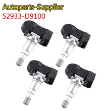4 sztuk 52933 D9100 433 Mhz w oponach samochodu monitor ciśnienia w oponach TPMS czujnik dla Kia Cadenza k7 17 18 Sportage/NIRO 17  19 SORENTO 18 19