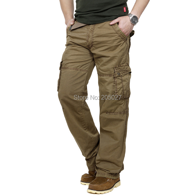 New Casual Casual Pants Men Cargo Pants Straight  Millitary Trousers 36 plus size Free Shipping 5Z