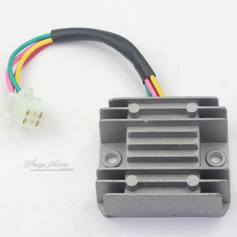 4 Wires Voltage Regulator Rectifier Motorcycle Boat Motor Mercury ATV GY6 50 150cc Scooter Moped JCL aliexpress com buy 4 wires voltage regulator rectifier Ignition Coil Wiring Diagram at cos-gaming.co