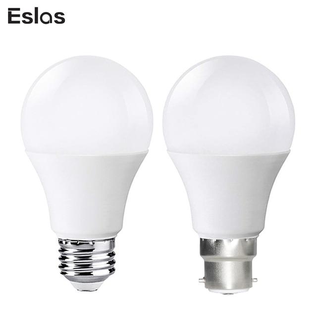 Eslas LED Bulb Lamps E27 B22 110V 220V 240V Light Bulb Smart IC 10W 1000LM Super Brightness 6500K LED Bombilla Spotlight