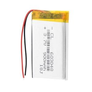 Image 4 - 3,7 в 900 мАч 603048 литий полимерный литий ионный аккумулятор для игрушечного дрона MP3 MP4 gps psp динамик DIY