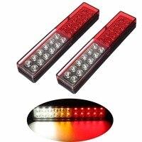 1 Pair 12V 24V Car LED Tail Lights Stop Brake Light Turn Signal Lamp for Truck Trailer Caravan Lorry