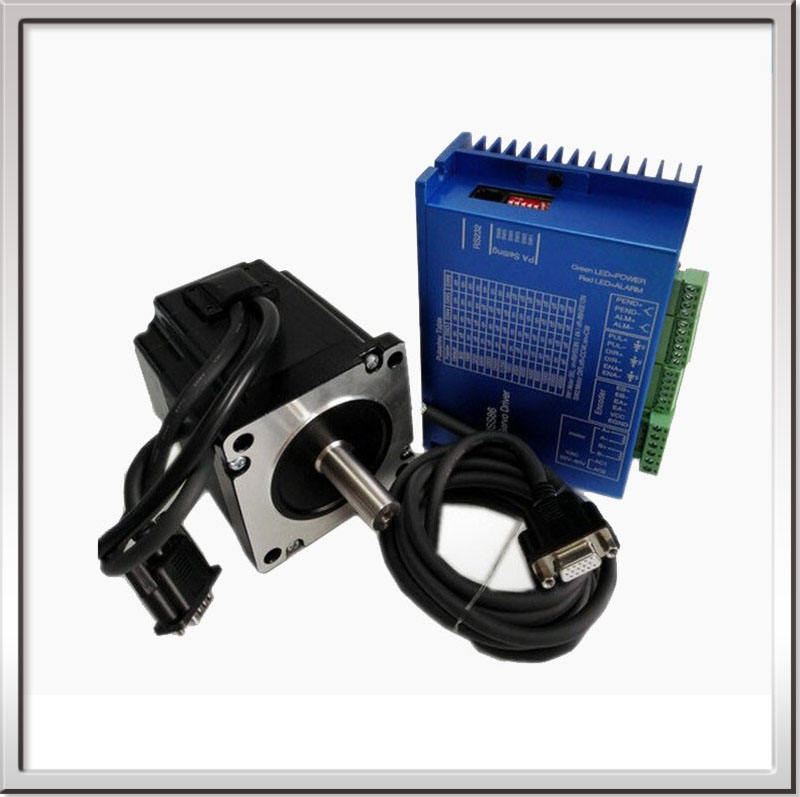 NEMA23 1.89N.M 2.8A 57mm Closed loop stepper motor with driver and 3M cables Motor Length 76mm 57HS76-2804 Free shipping
