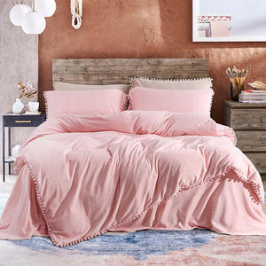King Queen size Pink Princess Bedding Set Fleece Warm Flat Bed Sheet Bed set Duvet Cover Fitted sheet Pillowcase parure de lit|Bedding Sets|   -