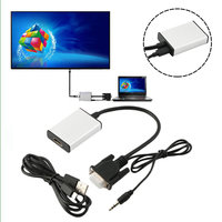 10 шт. VGA к HDMI адаптер Выход 1080 P HD и USB аудио HDTV видео кабель конвертер