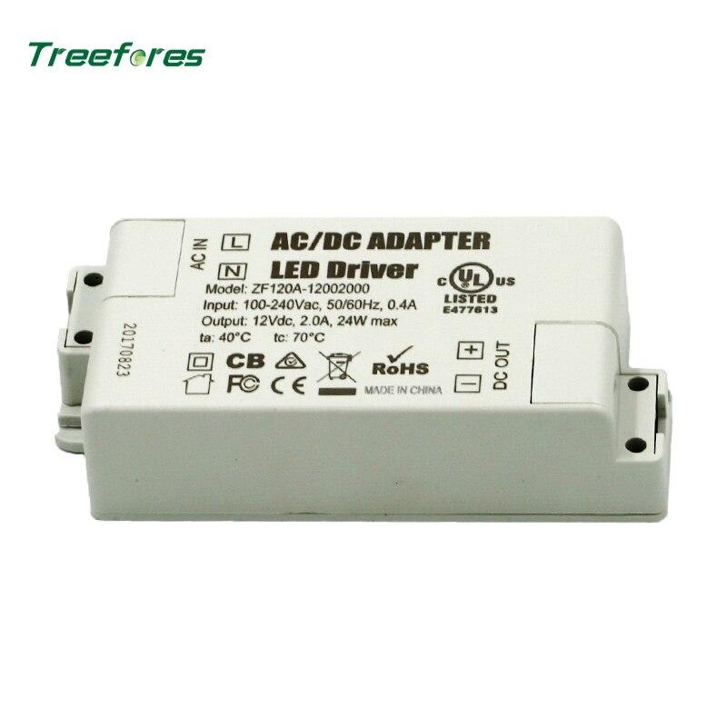 DC Volts 12 12 v da fonte de Alimentação LED Driver 30 24 15 12 6 w w w w w AC 110 v 220 v para 12 v Iluminação Transformador Adaptador para Luzes LED