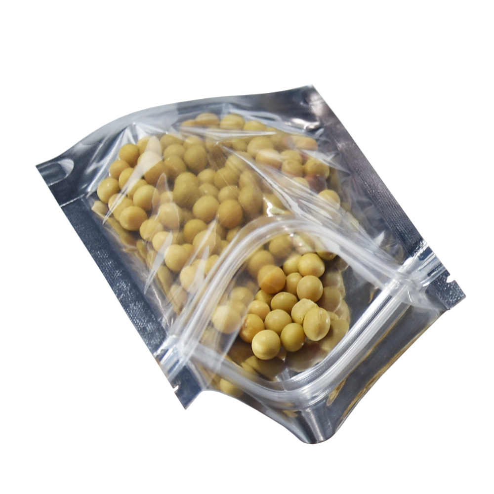 14 20cm Clear Stand Up Zip Lock Mylar Foil Package Bags Resealable Grip Seal Aluminum Foil Packing Bag for Candy Food Nut Grain in Storage Bags from Home Garden