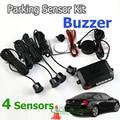 4 Sensors Buzzer 22mm Car Parking Sensor Kit Reverse Backup Radar Sound Alert Indicator Probe System 12V 7 Colors Free Shipping