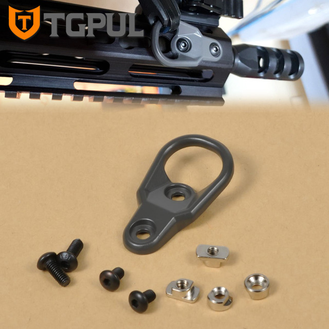 TGPUL MLOK Sling Mount Attachment Adapter for KeyMod System and M-LOK Handguard 1 2 3 Point Sling Dark Gray