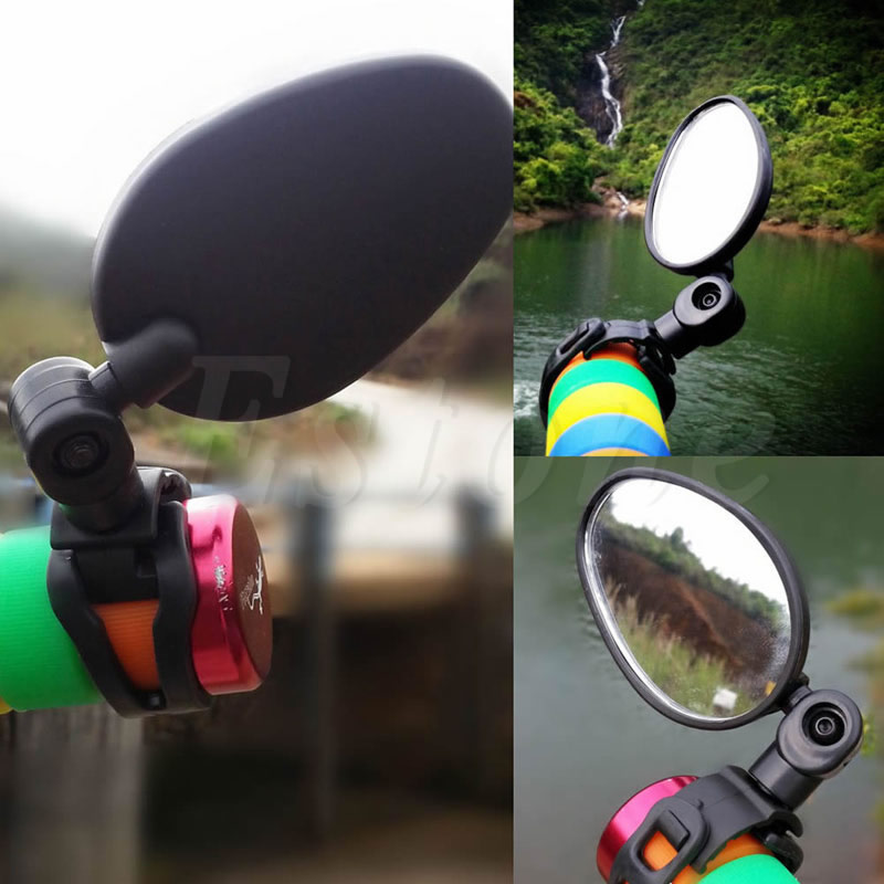 Cycling Universal MTB Handlebar Mirror 360C Rotate Bike Bicycle Rearview oumily universal flexible bicycle rearview mirror w mount bike rubber handlebar black pair