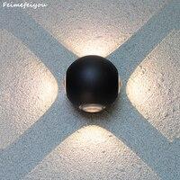 Lampada Led Waterproof Indoor Outdoor Led Wall Lamp Aluminum Adjustable Surface Mounted Cube Garden Porch Light