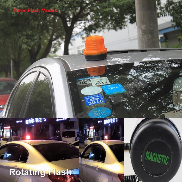 High-intensity Magnetic Vehicle Warning Lights With High-Brightness Roof-suction Road Traffic Safety Flashing Warning Lights