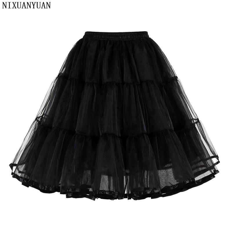 New Fashion Tulle Crinoline Vintage Petticoat Wedding Dress Underskirt Rockabilly Tutu Fluffy Adult Short Organza Petticoats