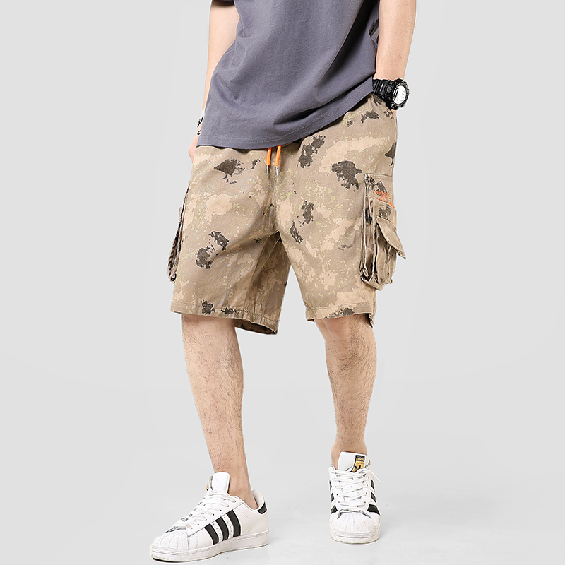 2020 Summer Camouflage Casual Shorts Men Cotton Streetwear Knee Length Mens Cargo Shorts Side-pocket Camo Bermuda Men's Shorts