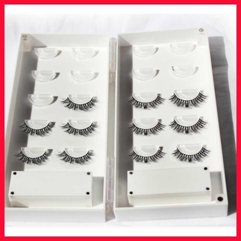 100% Real Siberian 3D Mink Full Strip False Eyelash Individual Eyelashes Mink Lashes Extension With plastic Box