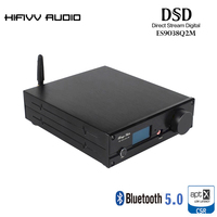 Hi Fi Bluetooth 5,0 плеер с ЦАП из ES9038Q2M и XMOS U208 декодер поддерживает DSD512 APT X HD