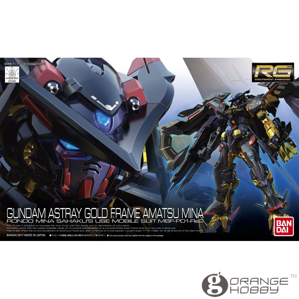 OHS Bandai RG 24 1/144 Gundam Astray Gold Frame Amatsu Mina MBF-P01-Re2 Mobile Suit Assembly Model Kits oh куртки пуховики nike пуховик nike chelsea jacket 905495 475