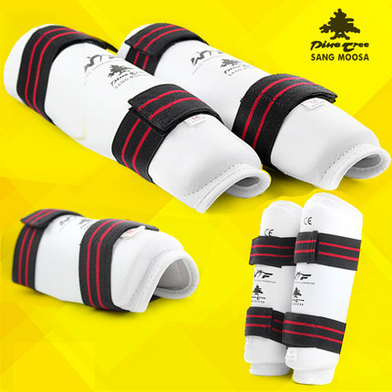 Prix pour NOUVEAU PU en cuir adulte enfants taekwondo Muay thai boxe protège-tibias tapis de Karaté bras Protecteur tige jambe protecteurs