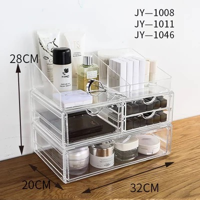 New Style acryl Make up box Cute Desk Decor Office Organizer Makeup