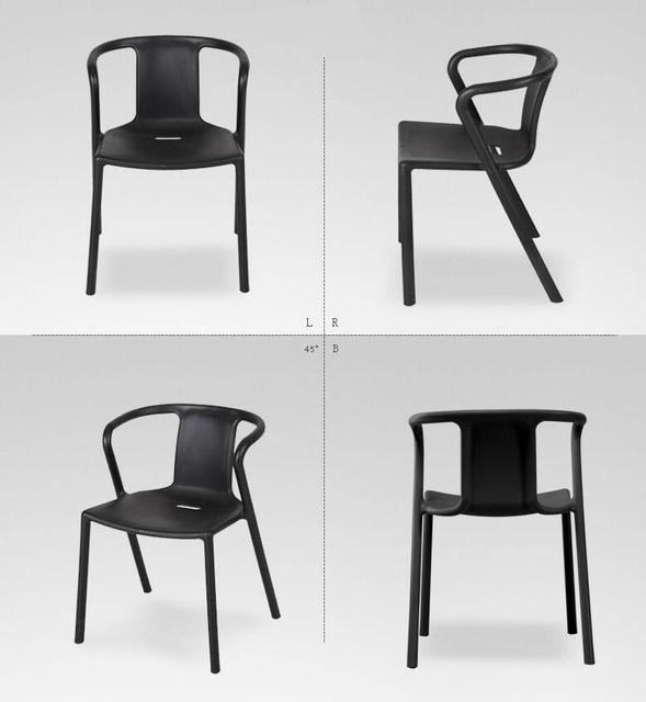 Leisure Plastic Chair Coffee Dining Modern Office Stoel Dining-room-furniture Plastic Modern Chairs
