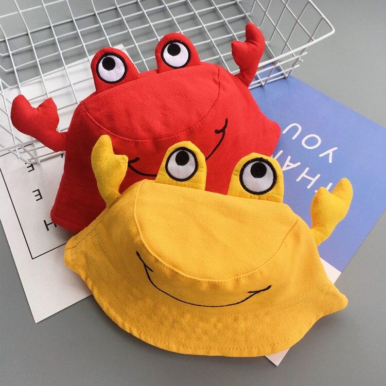 2018 Spring Autumn Baby Fisherman Hat Crab Cartoon Funny