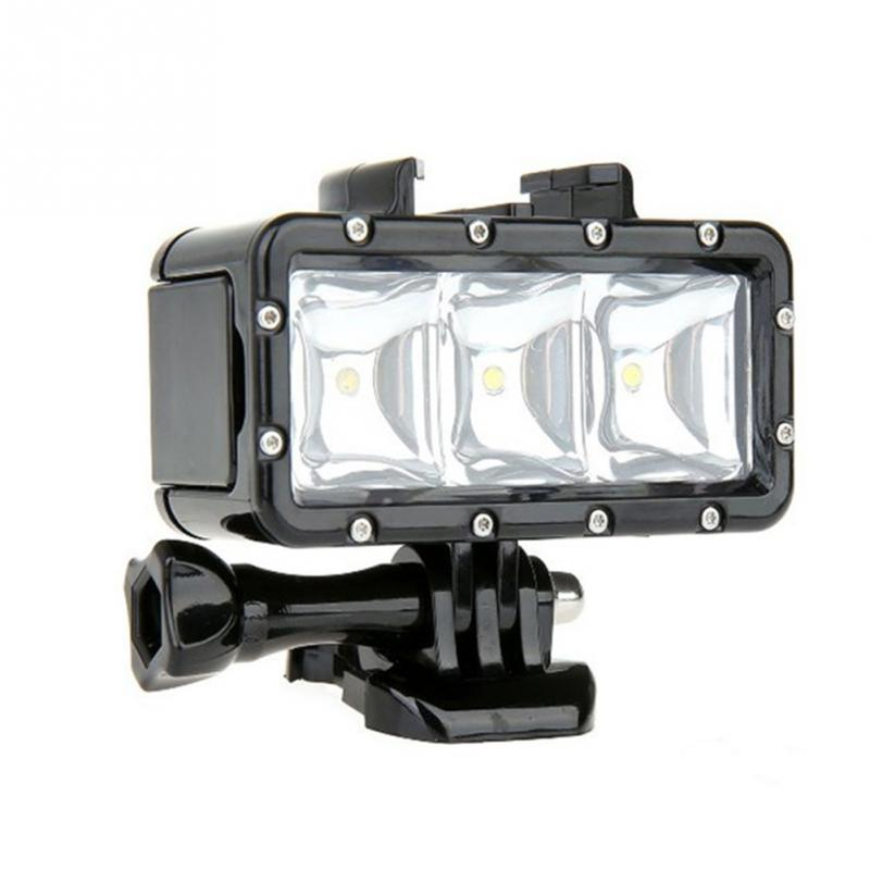 все цены на GoPro Accessories Underwater Light Diving waterproof LED video light+Battery& mount For GoPro Session Hero4 3+3 Xiaomi Yi SJ4000 онлайн