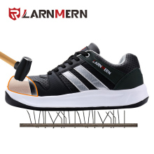 LARNMERN Miesten Steel Toe Cap Work Safety Kengät Unisex hengittävä Outdoor Jalkineet Biker Boot Puncture Proof Skateboard Sneaker