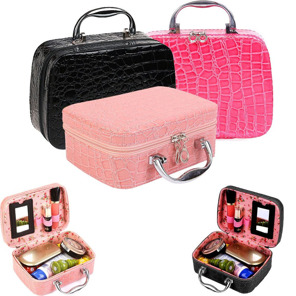 Makeup Boxes Cosmetic Bag Admission Package Jewelry Cases Necklace Storage  Box Korean Cosmetics Pouch Handbag Travel Train Cases-in Cosmetic Bags    Cases ... 95228ac53d127