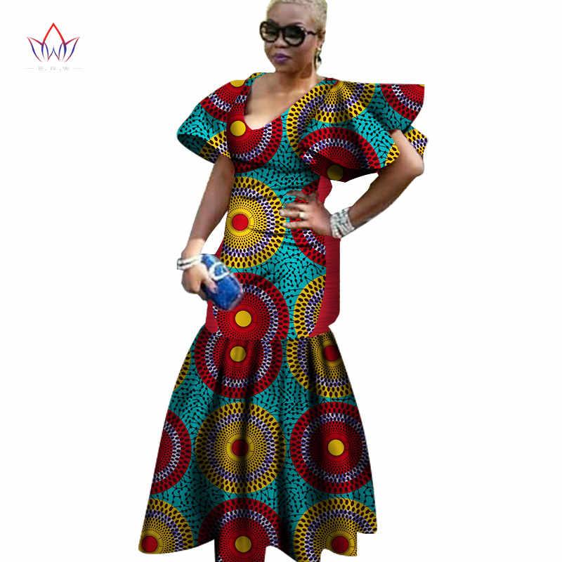 39243560968 2019 african dresses for women Fashion Design dashiki women bazin riche V-neck  long dress