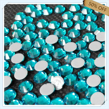 50% off strong adhesive SS6 2.1mm PEACOCK BLUE color with 1440 pcs each pack ; for WEDDING DRESSES free shipping