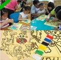 10 unids de Dibujos Animados Pintura de Arena del Color de DIY 10 tipos de Patrones Niños Inteligencia Educación Herramientas Arte Estudio Dibujo Juguetes Divertidos regalo