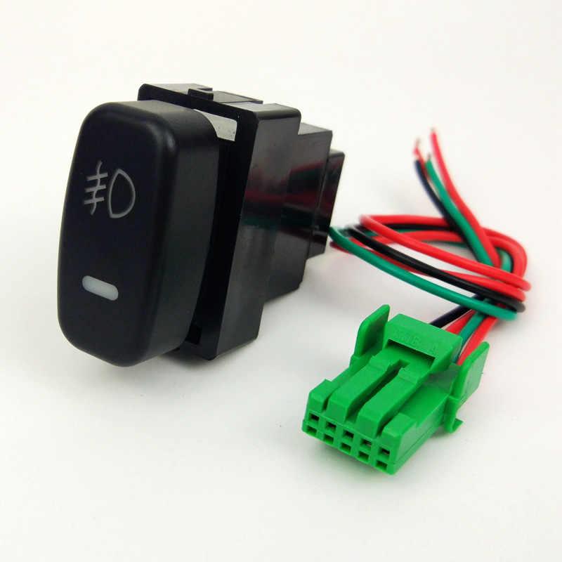 DRL ventilateur LED antibrouillard avant caméra enregistreur moniteur Radar capteur de stationnement bouton de commutation fil pour Mitsubishi Soveran Zinger
