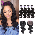 Brazilian Body Wave With Closure 7A Brazilian Virgin Hair With Closure Wet And Wavy Hair With Closure Ali Moda Hair With Closure